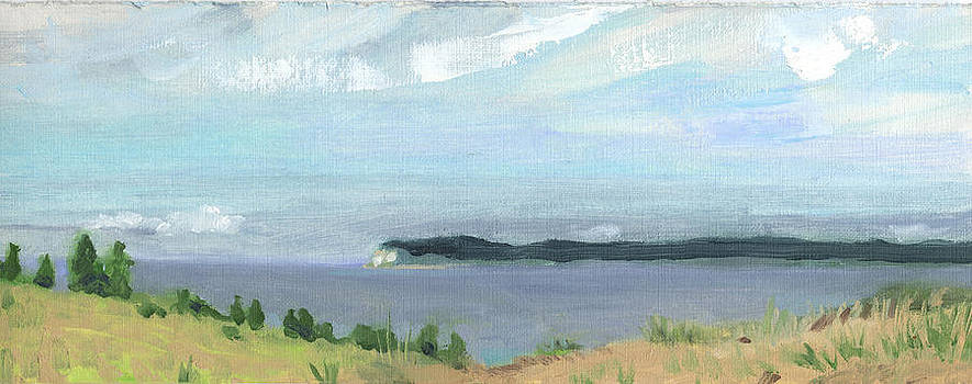 View of South Manitou Island by Charles Pompilius