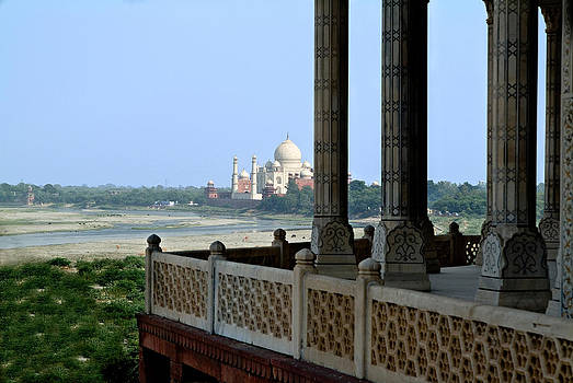 Devinder Sangha - View of Taj Mahal from Agra fort