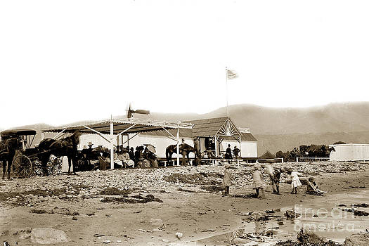 California Views Mr Pat Hathaway Archives - View of the beachfront Santa Barbara Bath House circa 1880