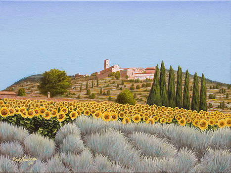 View of the Duomo Cortona Italy by Kirk Graham
