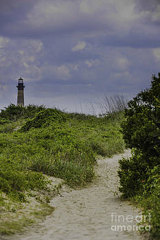 Dale Powell - View of the Lighthouse from the Dunes