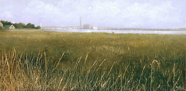View of the Thames from Rainham Marsh by Eric Bellis
