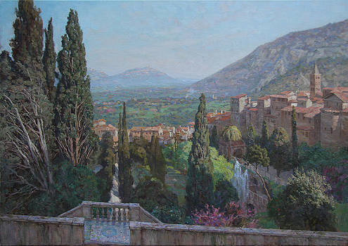View of Tivoli from the terrace of Villa d'Este by Korobkin Anatoly