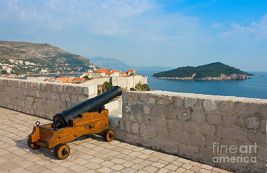 View toward old town Dubrovnik and island Lokrum by Kiril Stanchev
