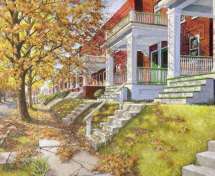 View Up the Block by Edward Farber