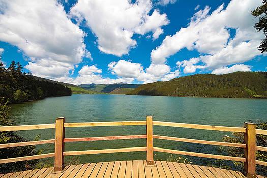 Viewing platform of Shudu and Bitahai lake at Shangri-la Yunnan by Calvin Chan