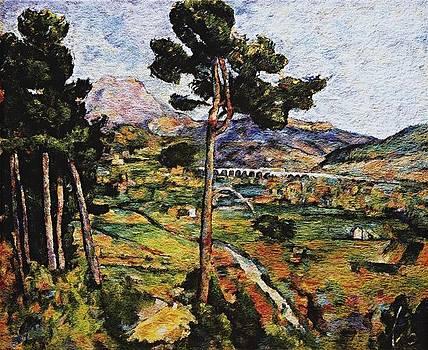 VIK MUNIZ 'Mont Sainte-Victoire  by Nikola Peranovic