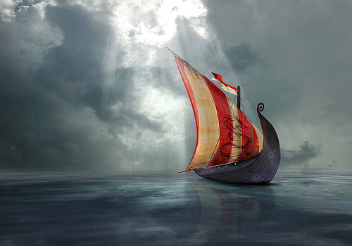 Viking Ship by Astrid Rieger