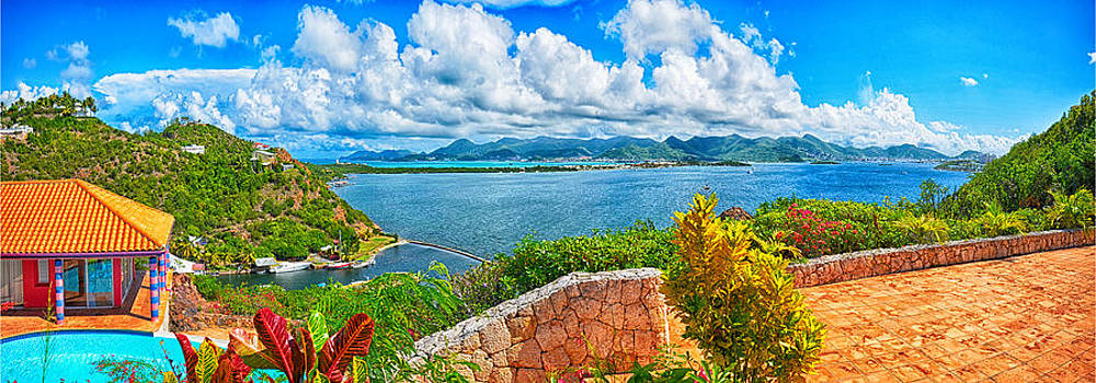 Villa Dauphin lagoon St Martin by David Dailly