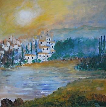 Village by the Lake by Lynne Bishop