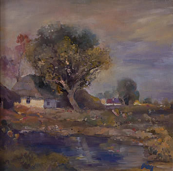 Village by the stream by Zlata Bodiova