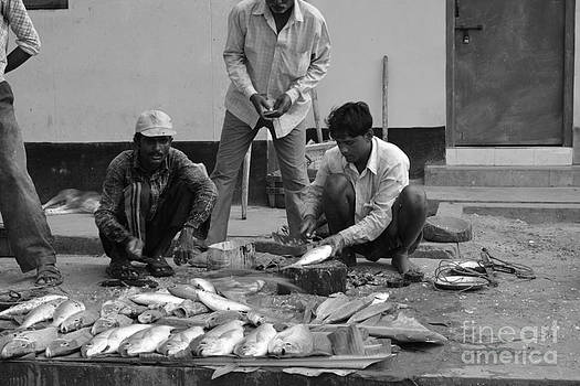 Village Fish Market 1 by Bobby Mandal
