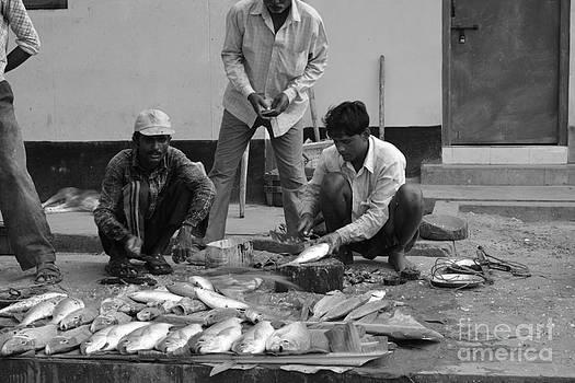 Village Fish Market 1 by Bobby Mandal