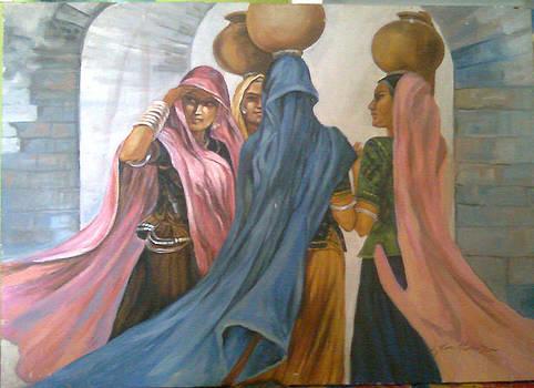 Village Girls by Jaffo Jaffer