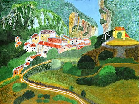 Village in the Mountains  by Magdalena Frohnsdorff