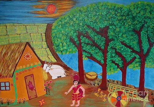 Village life style by Jnana Finearts