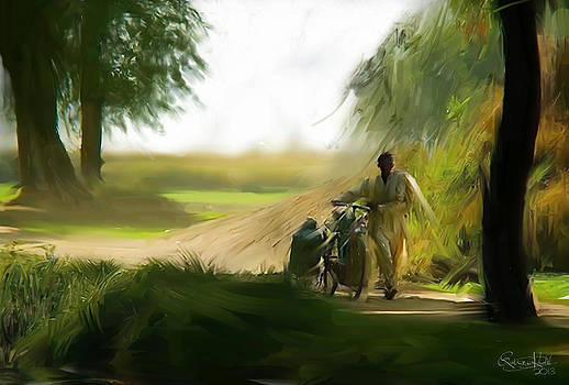 Village Milkman by Qaiser Khalil