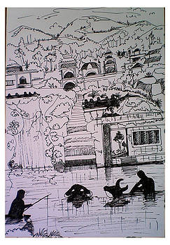 Village  by Ramesh Chandra