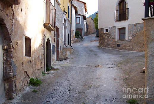 Barbara McMahon - Village Street in Italy