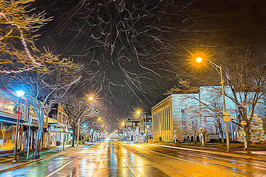 Chris Bordeleau - Village Winter Dream