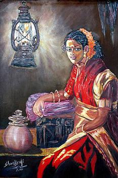 Village Woman by Sanakaranarayanan