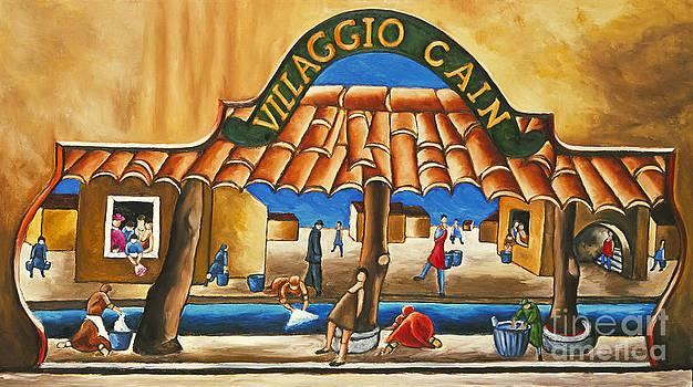 Villaggio Cain Art Print by William Cain