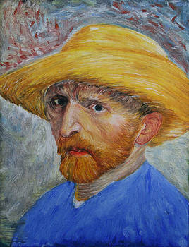 Vincent in Straw Hat Reproduction by Marna Edwards Flavell