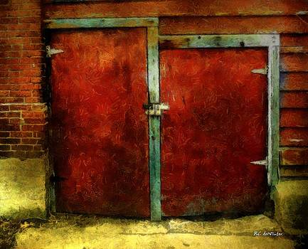 Vincent's Red Barn Doors by RC DeWinter