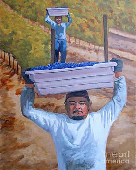 Vineyard Harvest II by Donna Schaffer