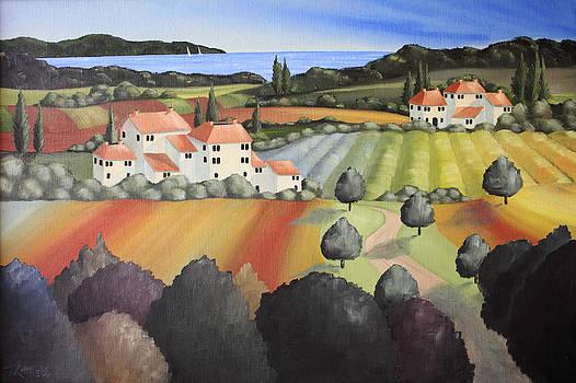 Vineyard Painting by David Kittrell