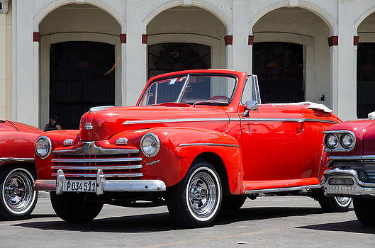Vintage 1947 Ford Super Deluxe Convertible in Havana Cuba  by Rob Huntley