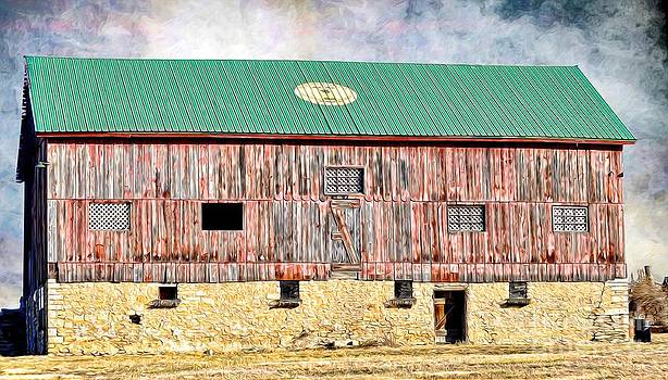 Liane Wright - Vintage Barn - Wood and Stone