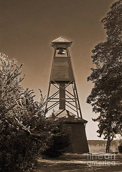 Connie Fox - Vintage Bell Tower at Port Townsend in Sepia
