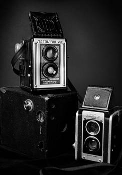 Vintage Cameras in Black and White by Rebecca Brittain
