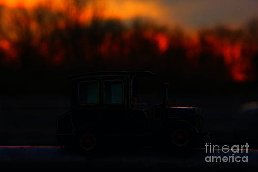 Vintage car in the sunset by Four Hands Art