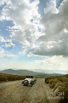 Jill Battaglia - Vintage Car on Mountain Road