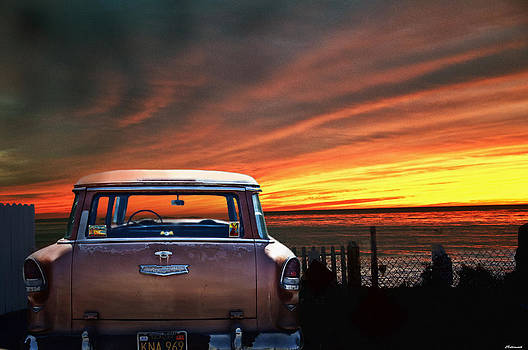 Larry Butterworth - VINTAGE CHEVROLET WITH CALIFORNIA SUNSET
