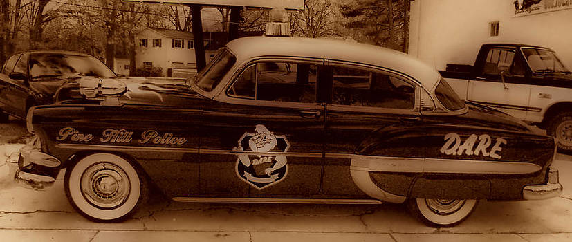 Vintage Classic D.A.R.E. Police Car by Thomas  MacPherson Jr
