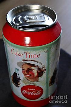 Vintage coke time can  by Bobby Mandal