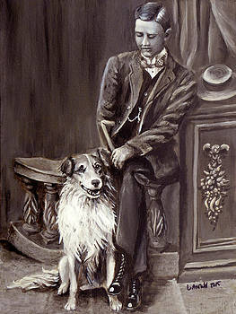 Vintage Collie and Gent by Leslie Arnould