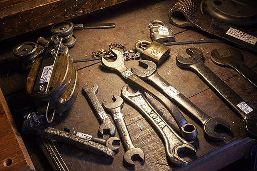 Lynn Palmer - Vintage Crescent Wrenches and Wooden Pulley