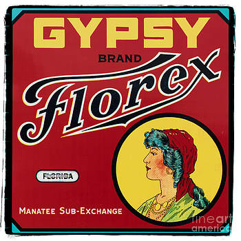 Ian Monk - Vintage Florida Food Signs 2 - Gypsy Florex Brand - Square