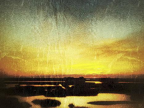 Vintage Gold Sunrise Sunset Image Art by Jo Ann Tomaselli
