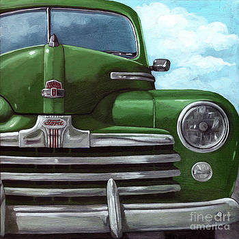 Vintage Green Ford by Linda Apple