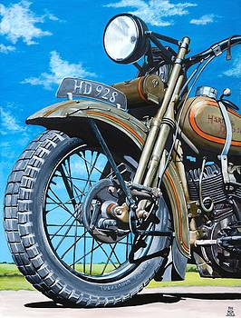 Vintage Indian Motorcycle by Branden Hochstetler