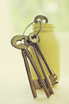Vintage Keys by Whimsy Canvas