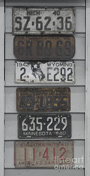 Vintage license plates by Matt James