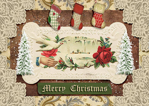 Vintage Merry Christmas by Paula Ayers