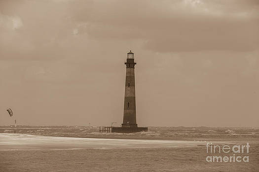 Dale Powell - Vintage Morris Island Lighthouse