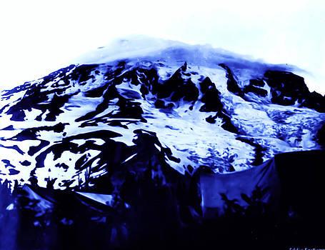 Vintage Mount Rainier at Twilight early 1900 era... by Eddie Eastwood